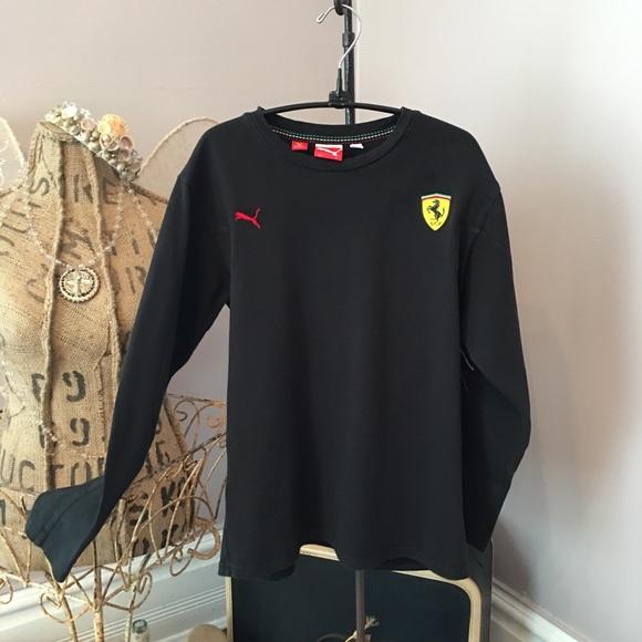 2be8b8a7d8dda4 Puma Ferrari black LS shirt size XL. EUC. M_5ba1134a153795dbf9f844cf